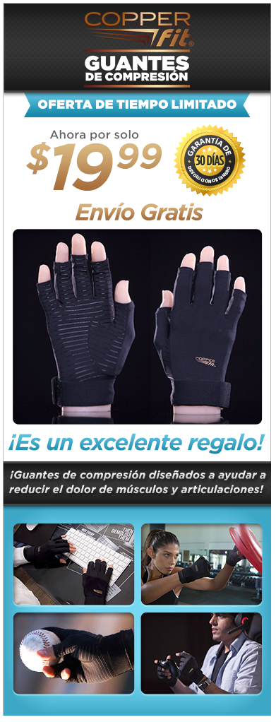 Order Copper Fit® Guantes de Compresión Now!